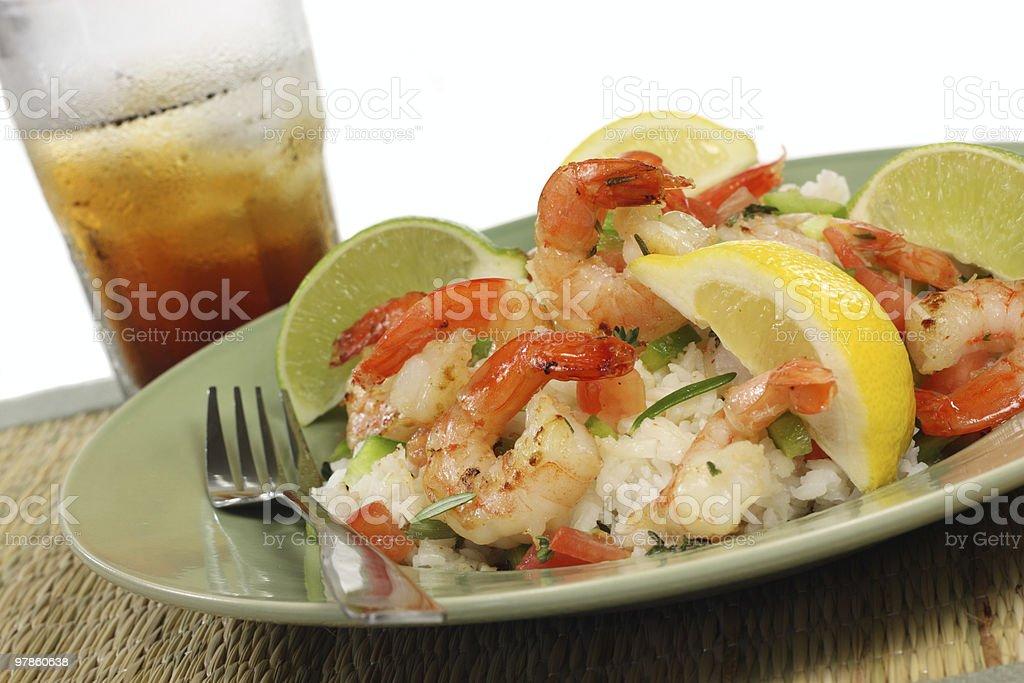 Citrus Shrimp stock photo