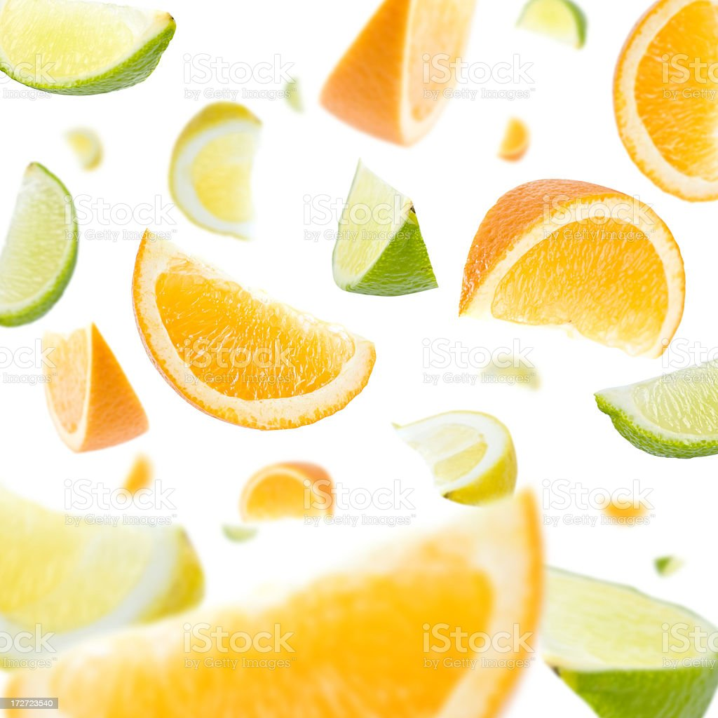 Citrus Slice Explosion royalty-free stock photo
