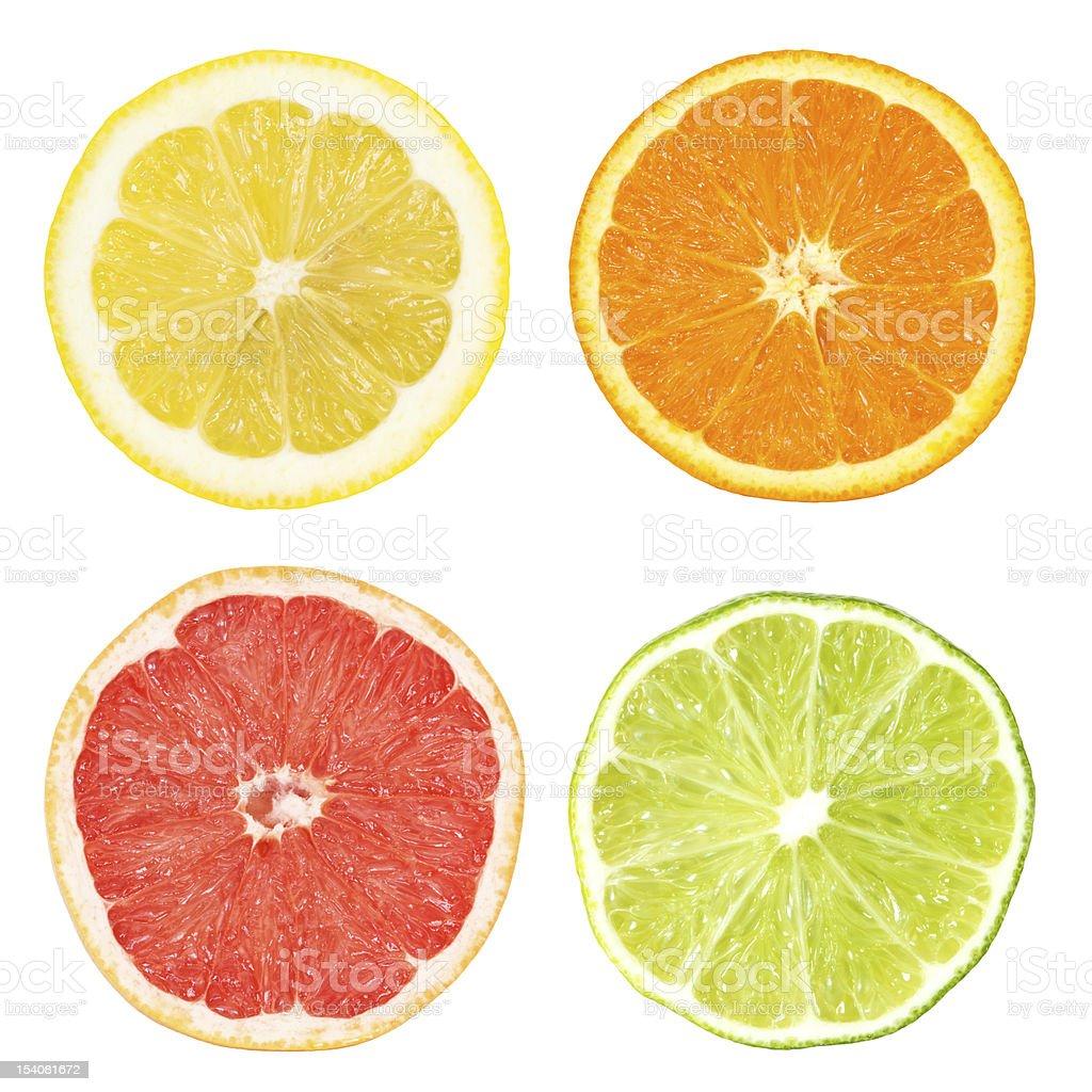 citrus slices stock photo