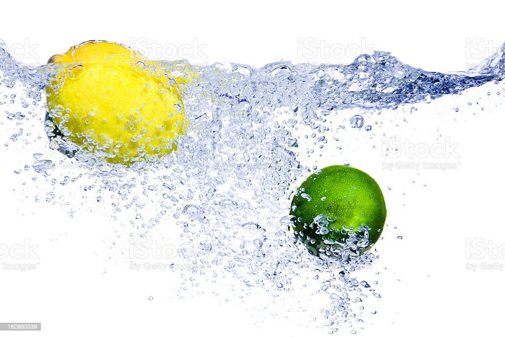 Citrus Splash royalty-free stock photo