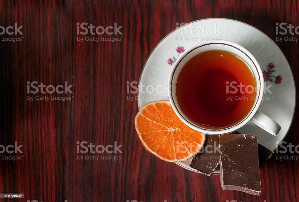 citrus tea with sweet stock photo