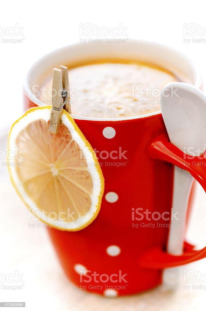 Citrus Tea with tangerine and lemon. Shallow DOF. Selective focus stock photo