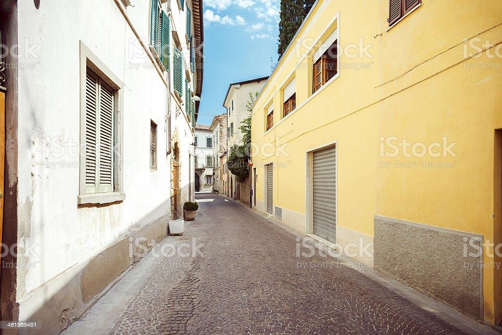 Città di Castello, Italy royalty-free stock photo