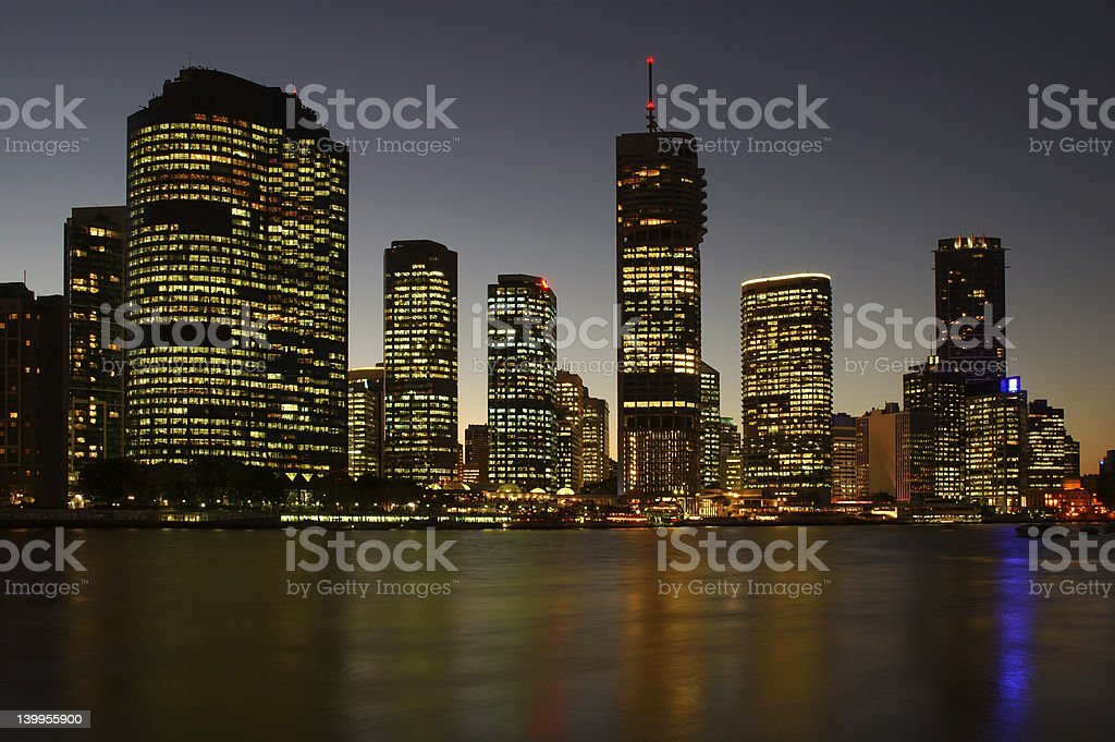 City After Dark royalty-free stock photo