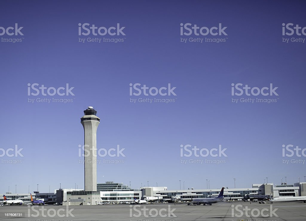 City Airport Horizon stock photo