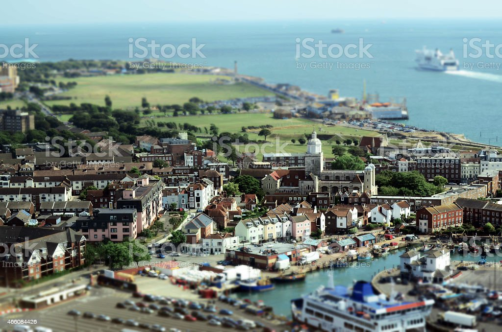City and Country stock photo