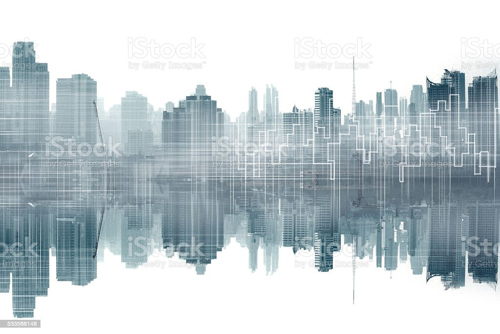 city and graphic stock photo
