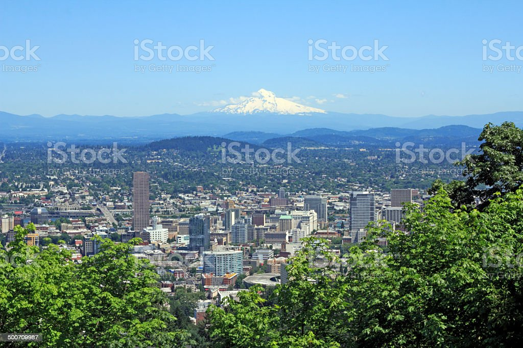 City and Mountain View stock photo