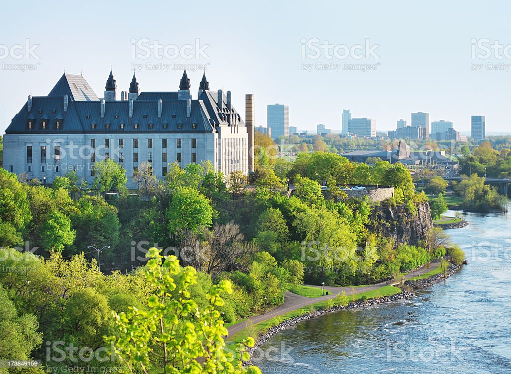 City and river royalty-free stock photo