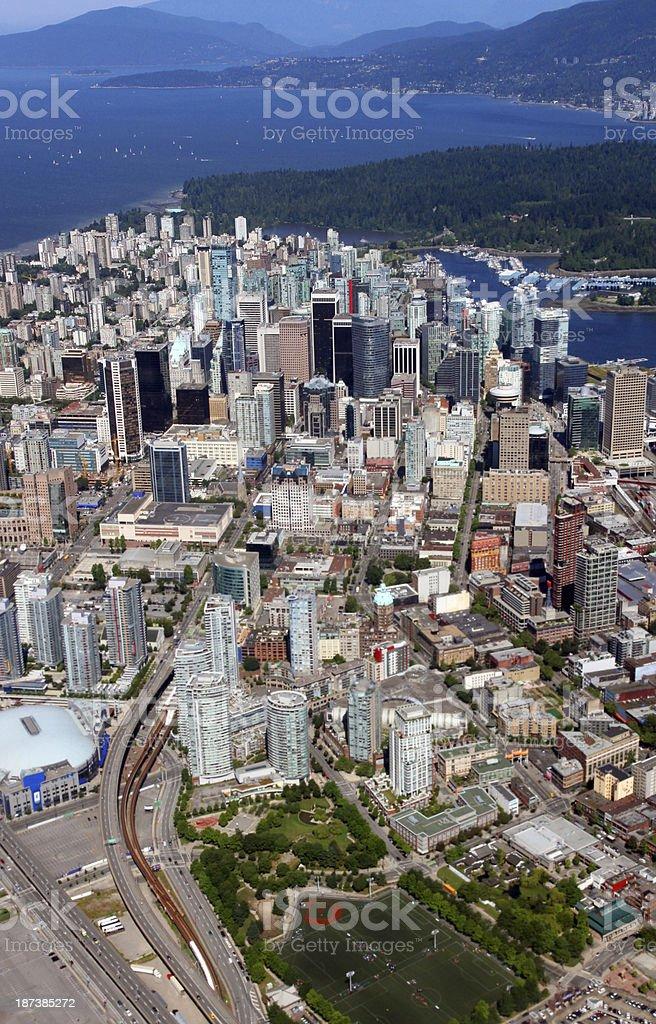 City and Sea royalty-free stock photo