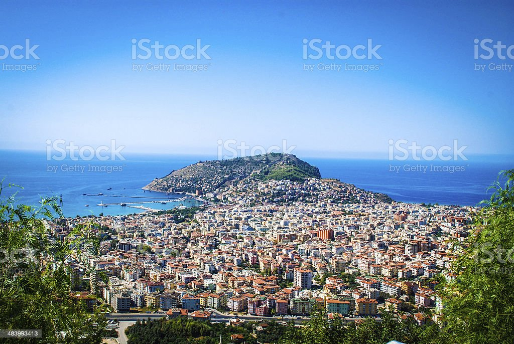 City and sea royalty-free stock photo