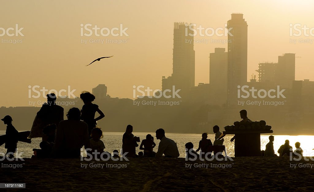 city and silhouettes stock photo
