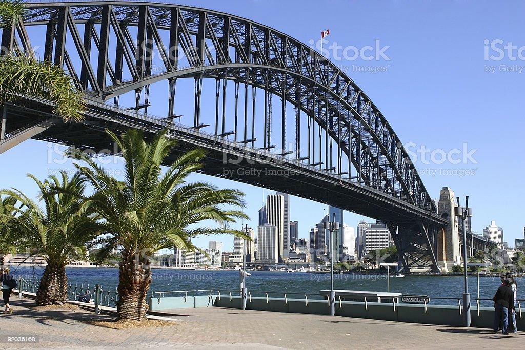 City and Sydney Harbour Bridge stock photo