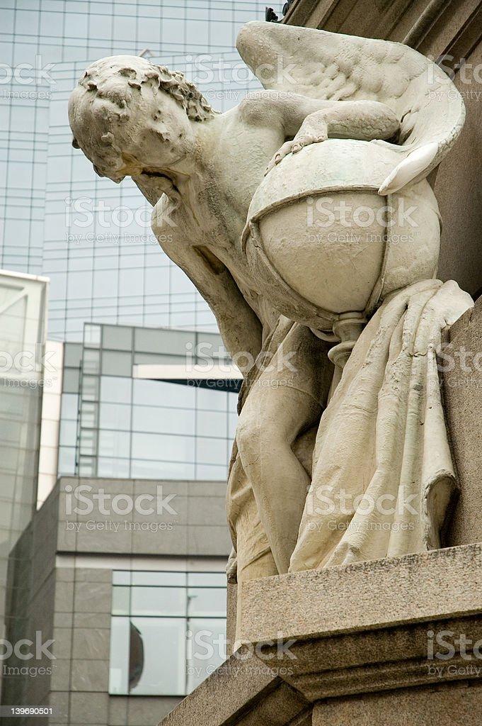 City angel royalty-free stock photo