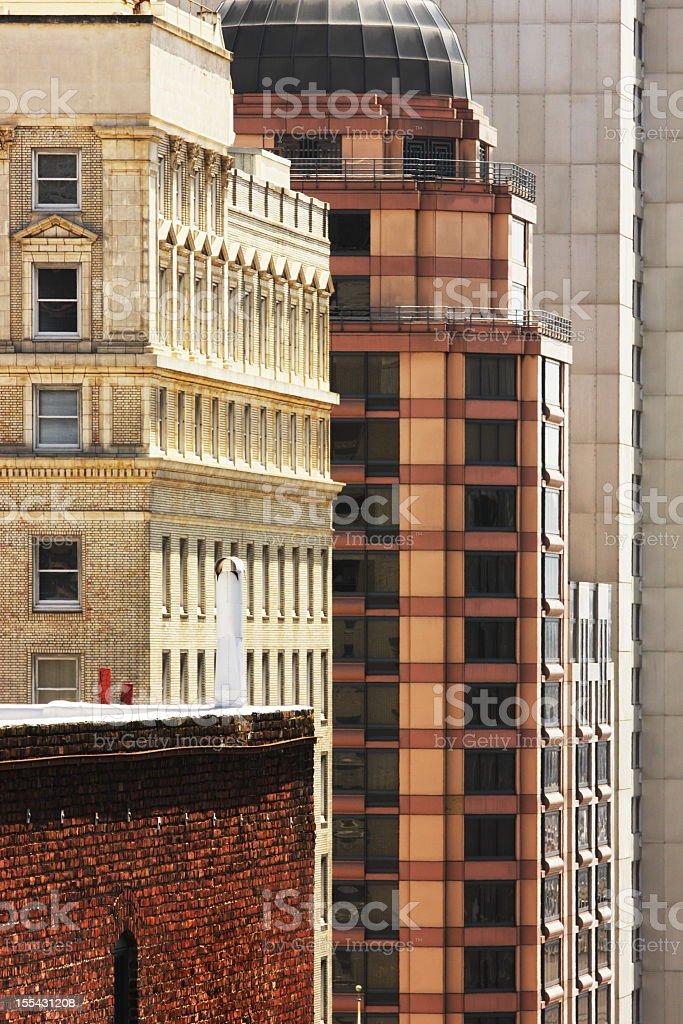 City Apartment Building Skyscrapers stock photo