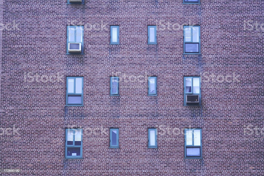 City Apartment Complex Units royalty-free stock photo