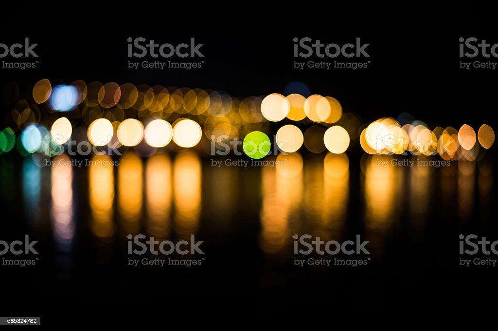 City at night - blur photo,Bokeh background stock photo