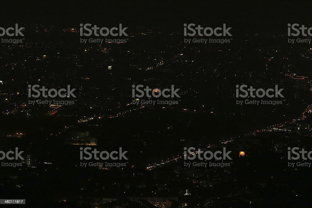 City at night stock photo