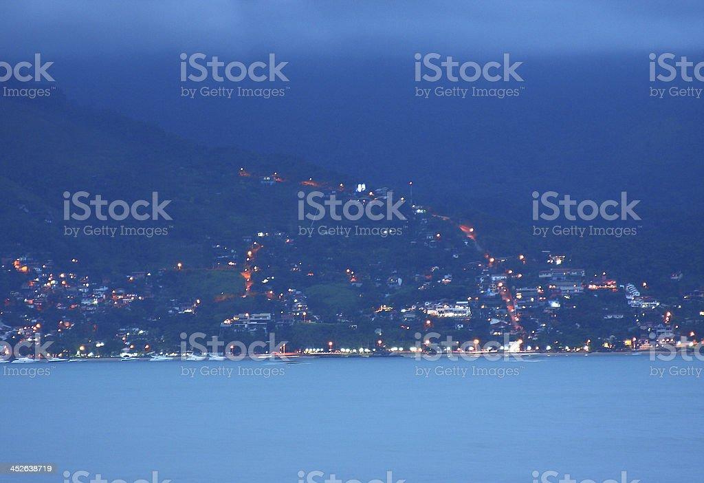 City at nights - Subida no Morro royalty-free stock photo