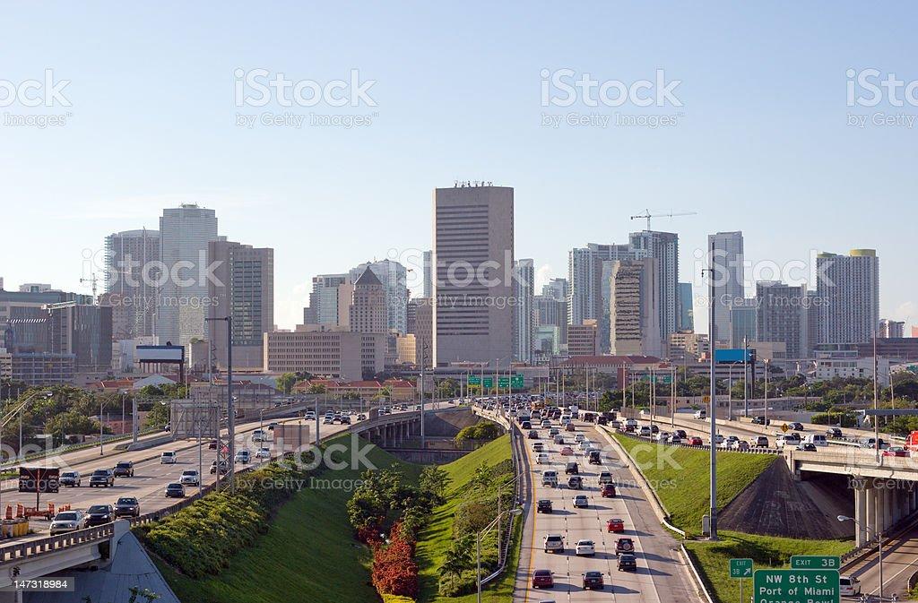 City at Rush Hour stock photo