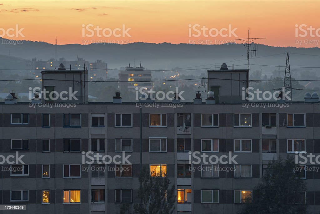 City at sunset royalty-free stock photo