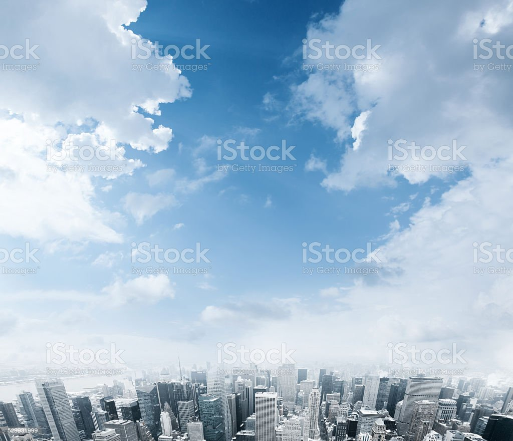 City background stock photo