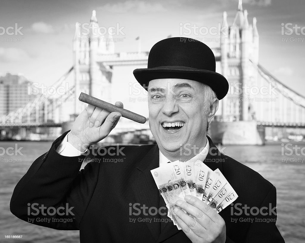 City Banker royalty-free stock photo