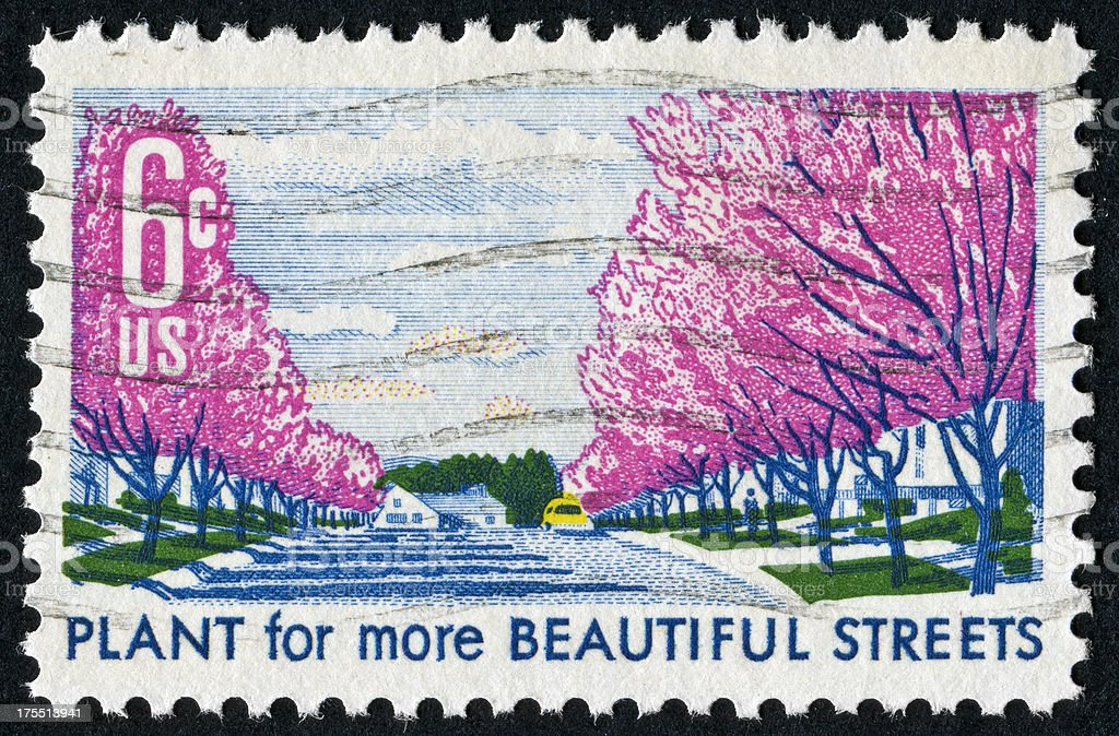 City Beautification Stamp stock photo