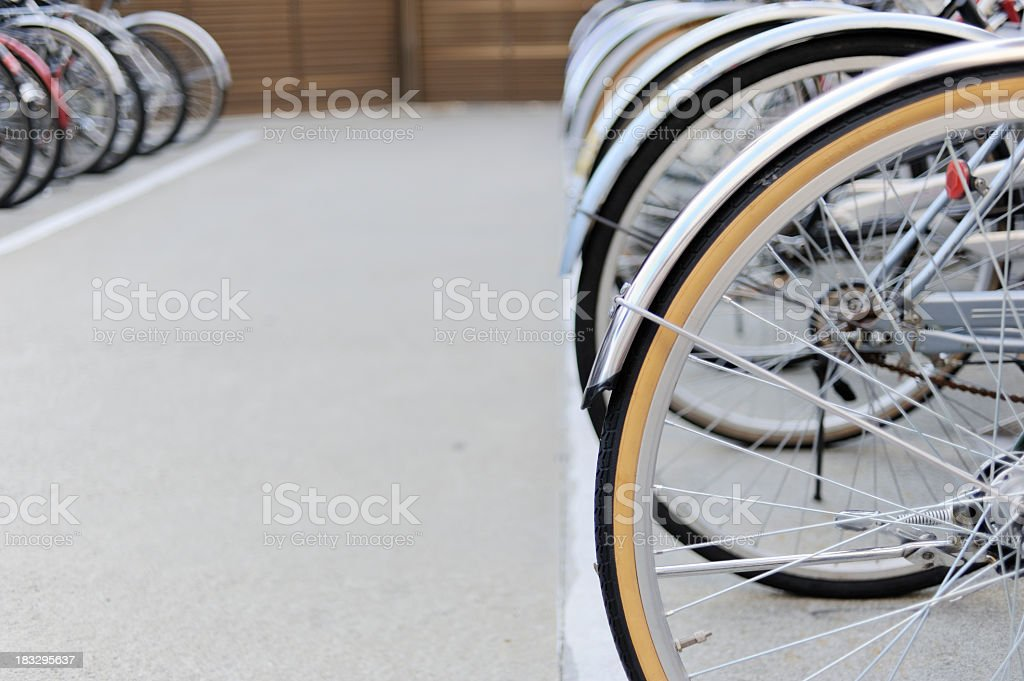 City Bicycle Park royalty-free stock photo