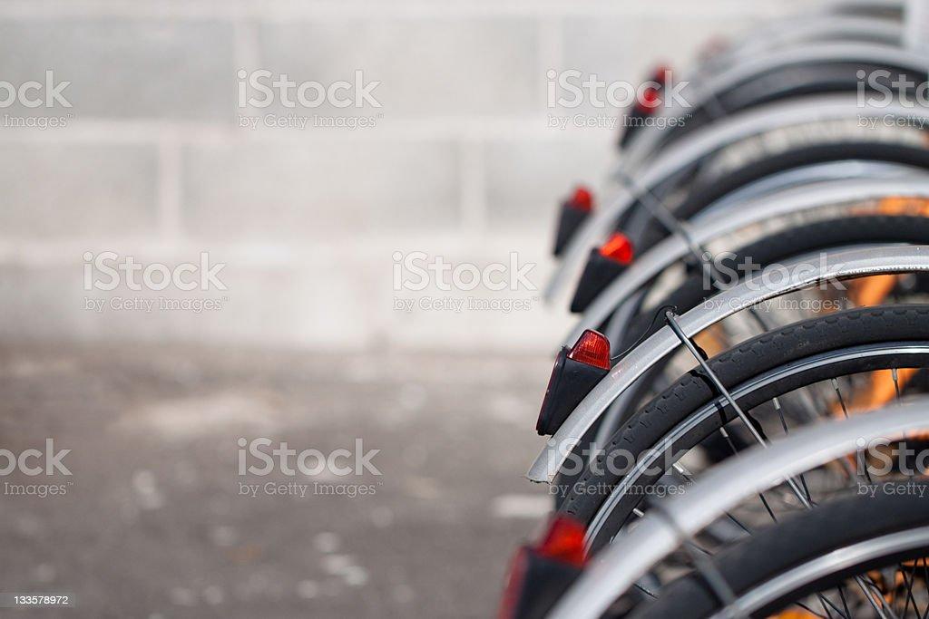 City Bicycles - Urban Scene royalty-free stock photo