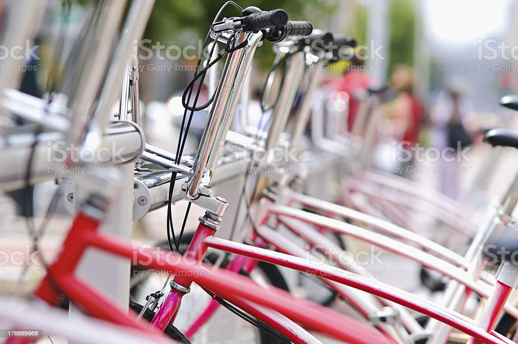 City Bike Rental Stand royalty-free stock photo