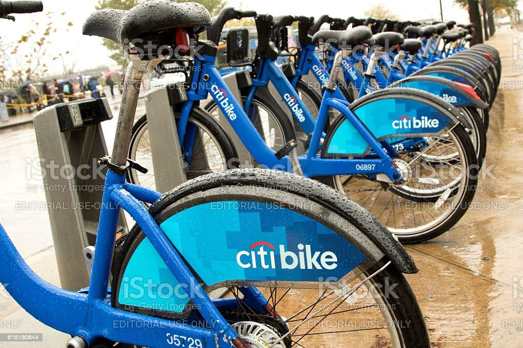 City Bike sharing system on 34th Street Manhattan NYC stock photo