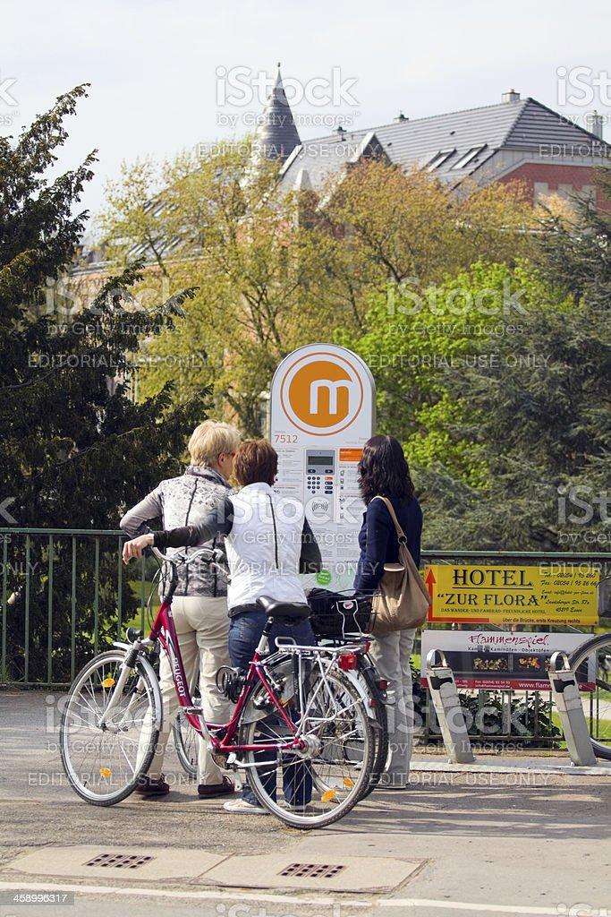 City bike station in Essen stock photo