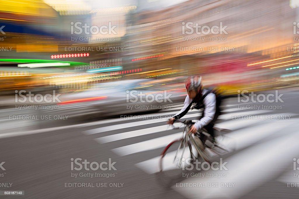 City Biker stock photo