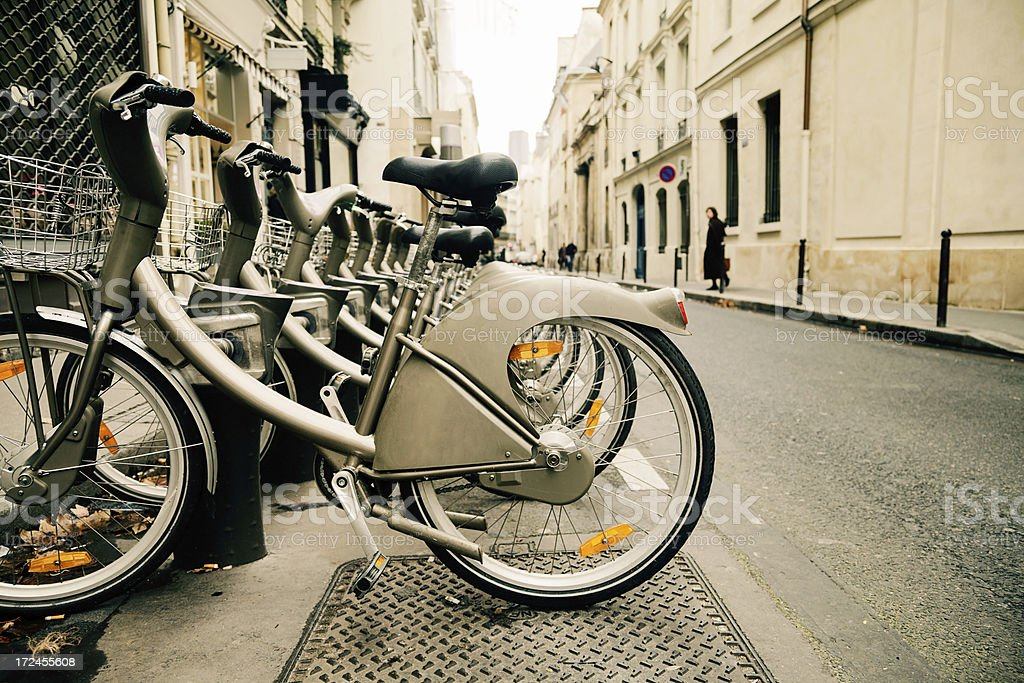 City Bikes for rent royalty-free stock photo