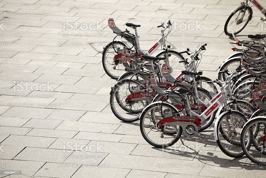 City bikes royalty-free stock photo