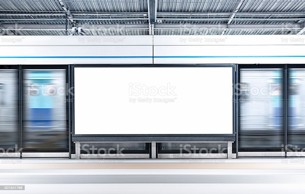City Blank Billboard stock photo