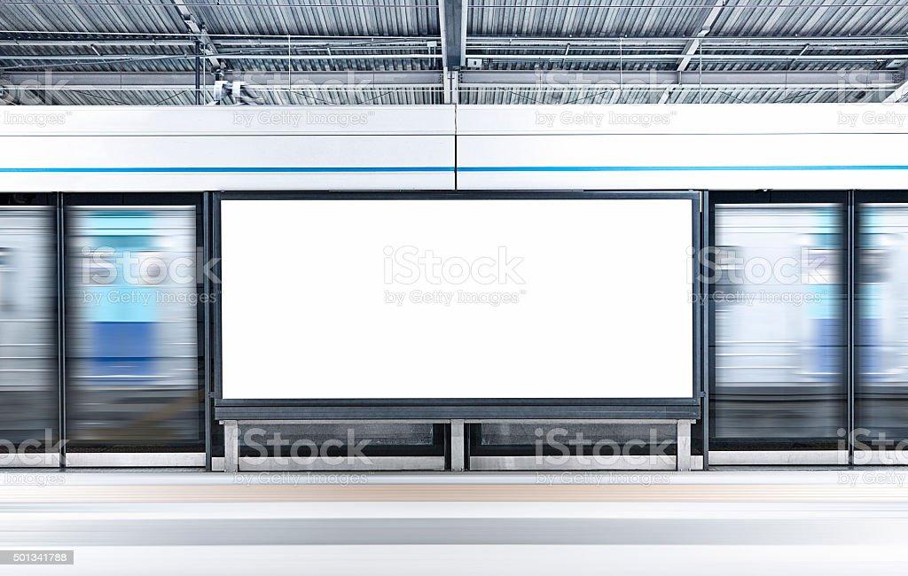 City Blank Billboard stock photo