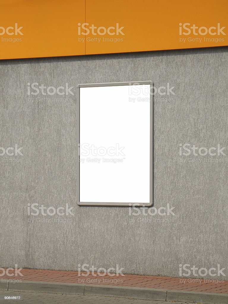City blank billboard-poster [with work path] royalty-free stock photo