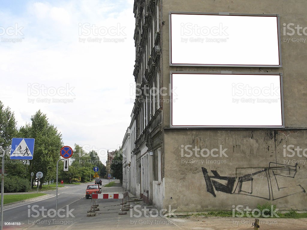 City blank billboards [with work path] royalty-free stock photo
