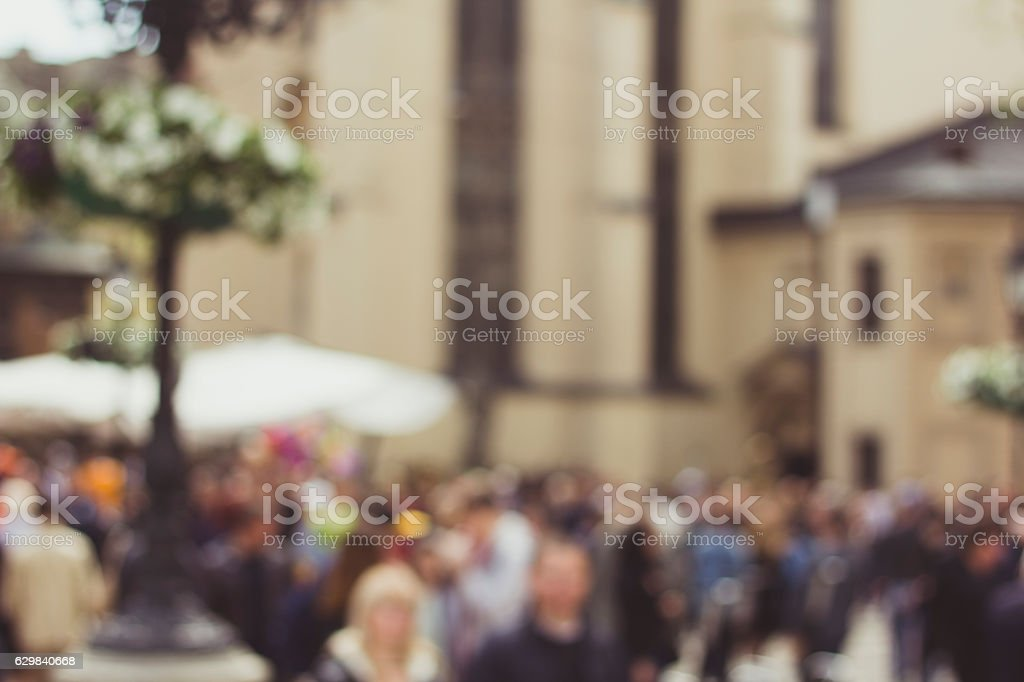 City bokeh background stock photo