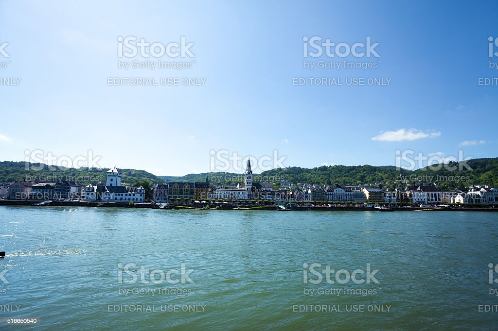 City Boppard stock photo