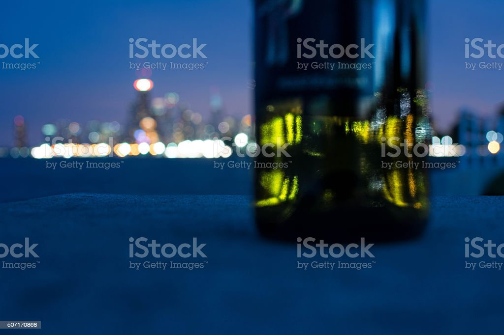 City Bottle stock photo