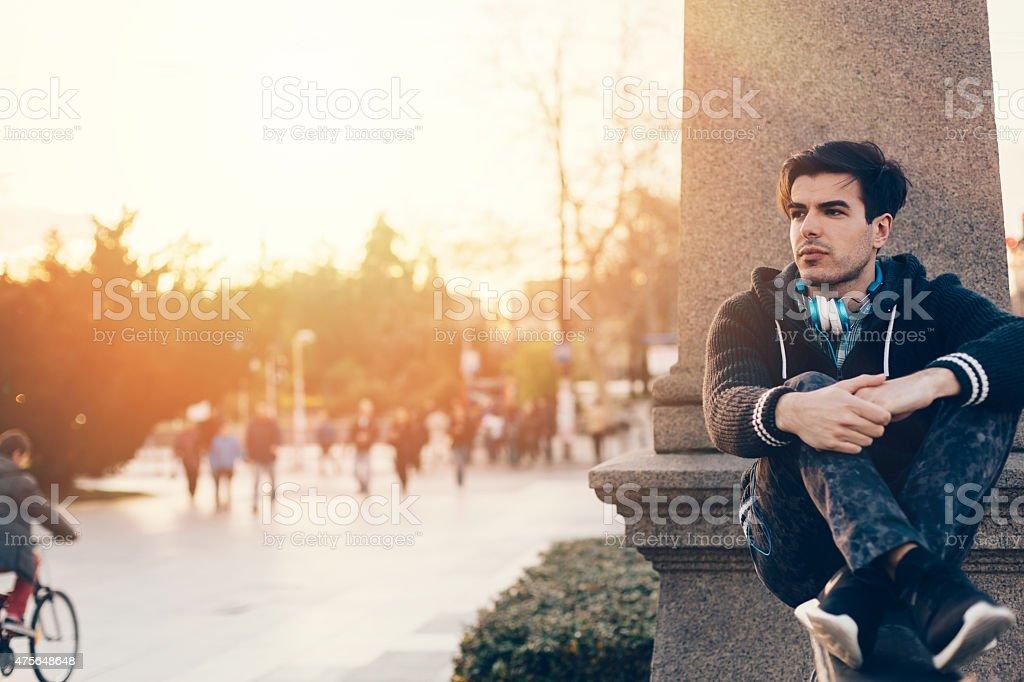 City break stock photo