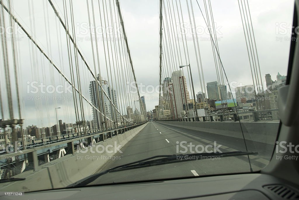 City Bridge From the Windshield royalty-free stock photo