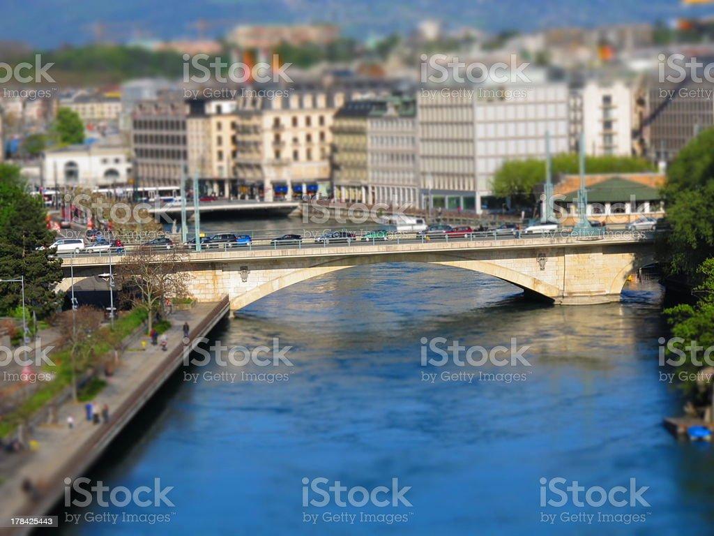 City bridge stock photo
