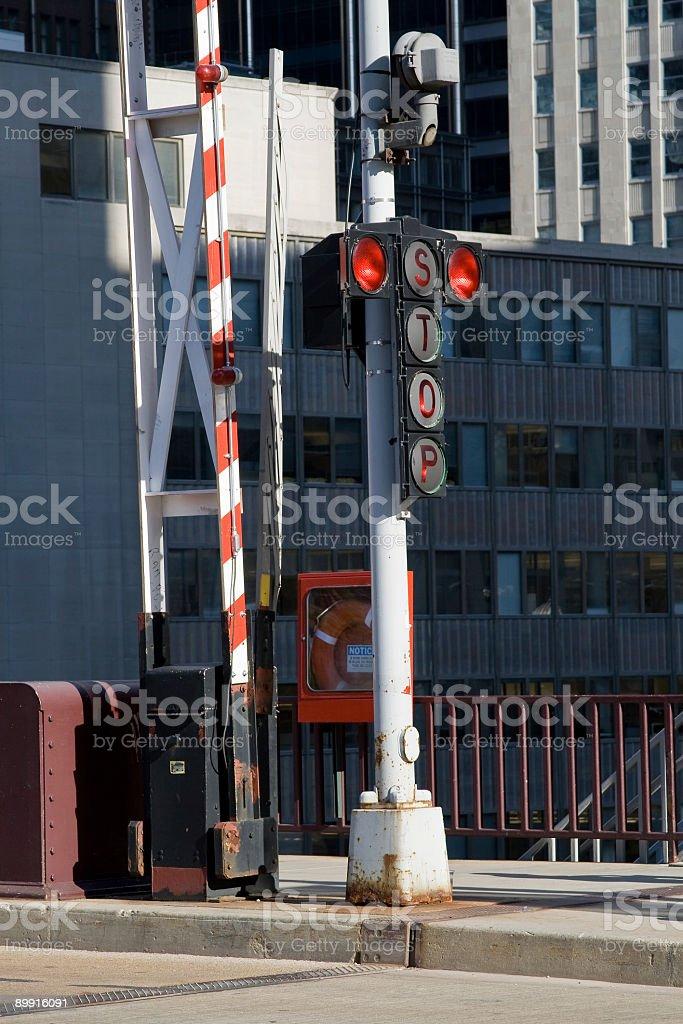 City bridge stoplight royalty-free stock photo