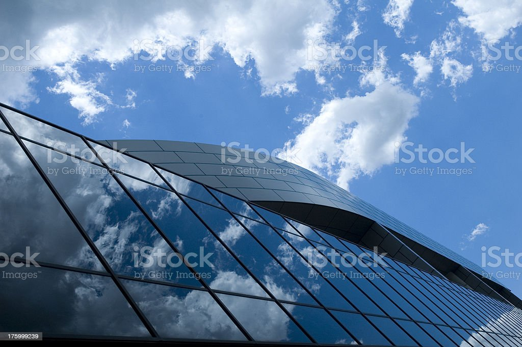 City building under angle royalty-free stock photo