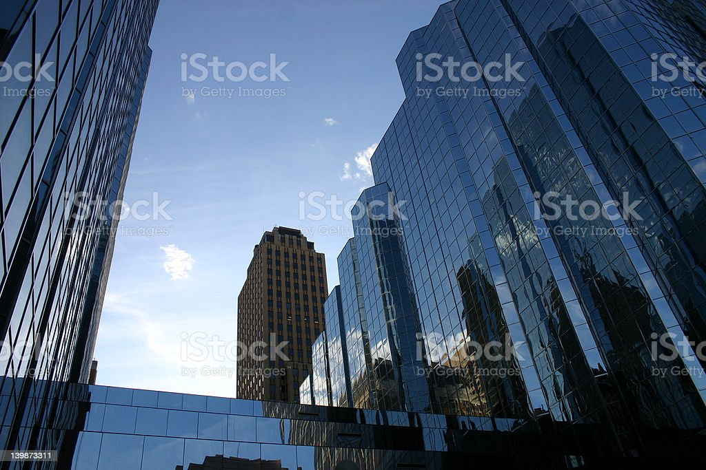 City Buildings At Morning stock photo