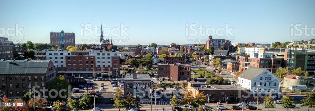 city buildings in New England stock photo